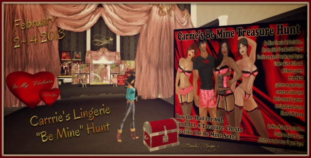 Carrie's Lingerie Be Mine Hunt