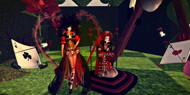"""Posing with Argus """"The Queen Of Hearts"""""""