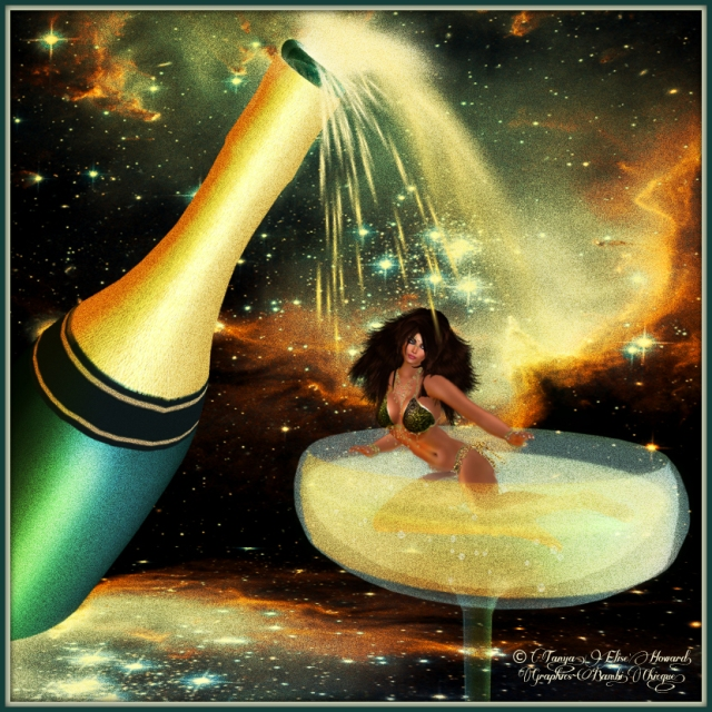 White A Ride ~ by Bambi Chicque ~ Prop: Sine Wave Champagne Dance