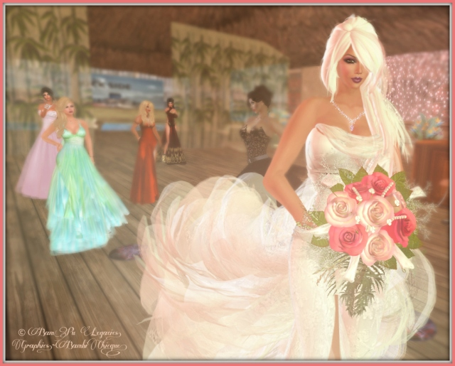 Fortune Bouquet ~ Gown by Celeste Weddings
