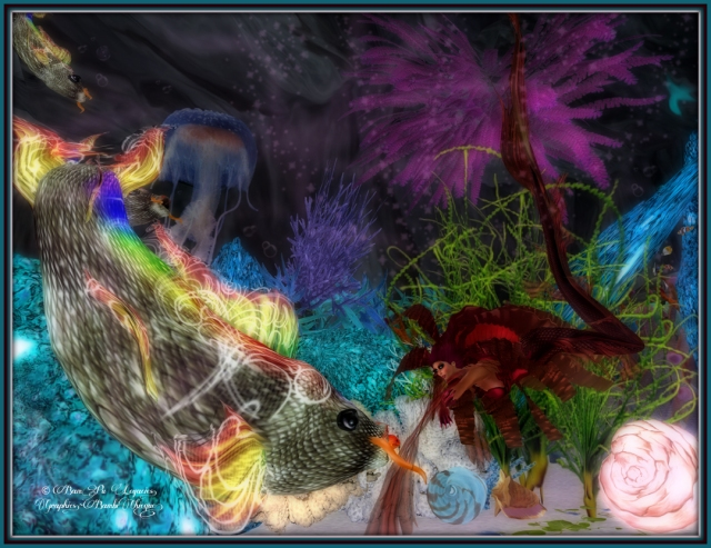 "Of Chance We Meet ~ Rainbow Fish ""Diving Deep"" ~ Mermaid Ensemble Erare Sirens Fury by Celoe and LeLutka's Erare Event"
