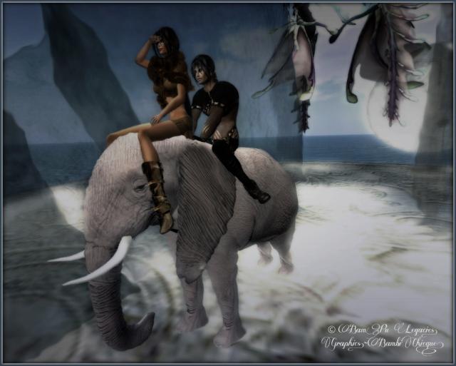 """The Elephant Trail"" by Bambi Chicque ~ Patron Sim"