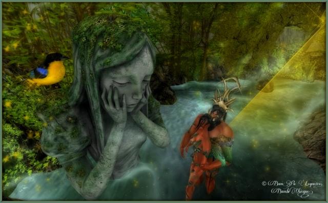 Devotion ~ Harlove & Bambina Watch The Channing Wispa Statue Cry