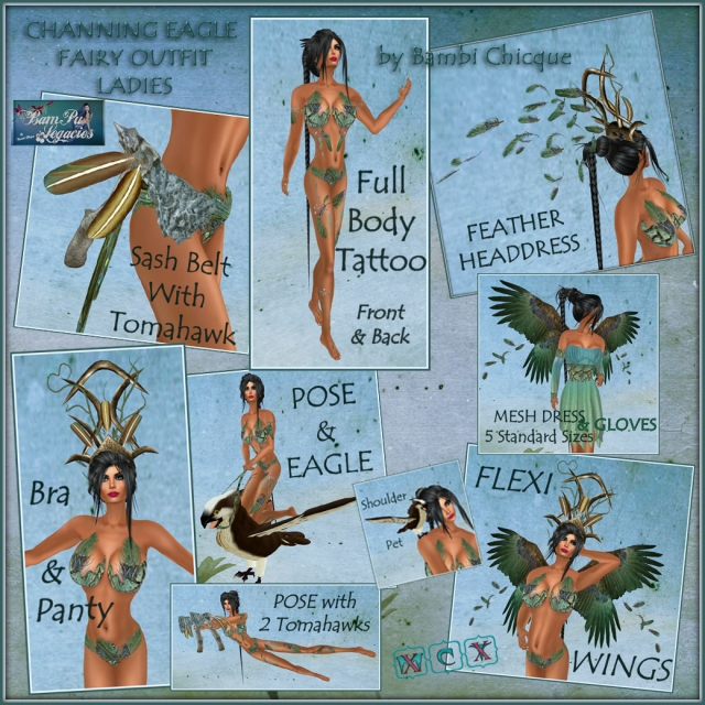 Channing Eagle Fairy ~ Ladies ~ With 2 Poses & Props