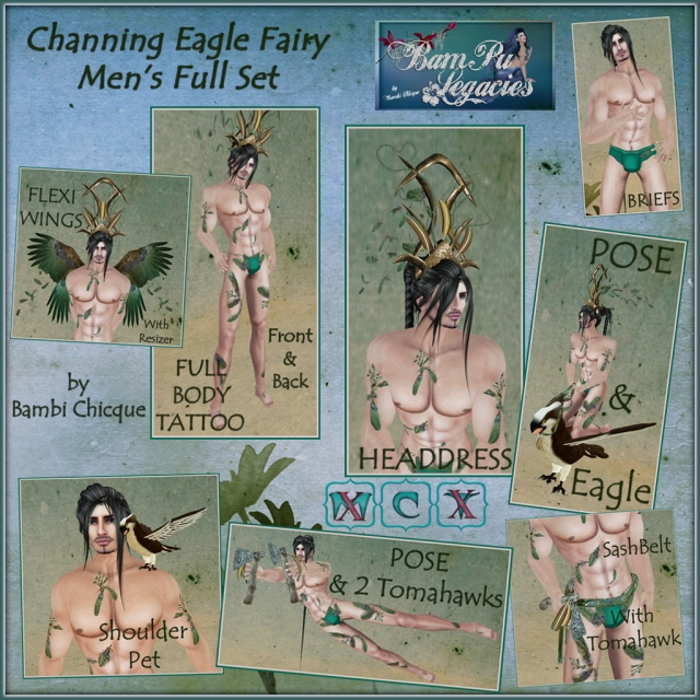 Channing Eagle Fairy ~ Men's ~ With 2 Poses & Props