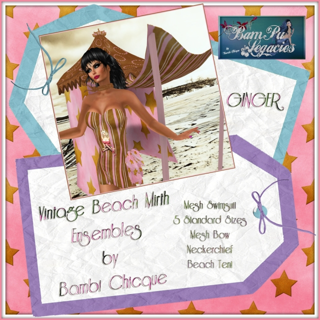 Ginger ~ Vintage Beach Mirth by Bambi Chicque