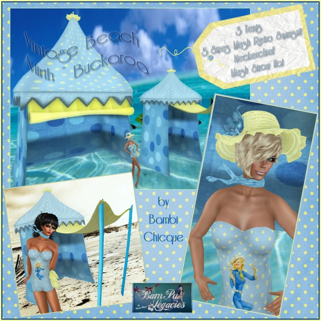 Vintage Beach Mirth ~ Buckaroo Gal