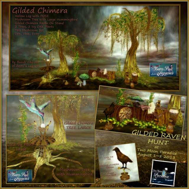 Gilded Chimera Raven Hunt Items