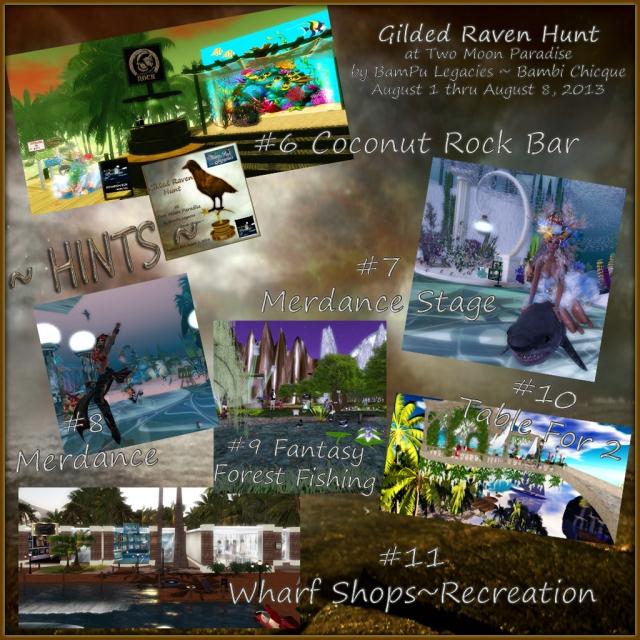 Gilded Raven Hunt HINTS 2