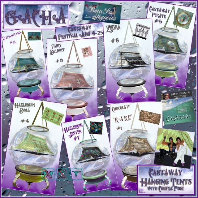 "GACHA ADDICTION ""Castaway Festival"" Castaway Hanging Tents by BamPu Legacies!"
