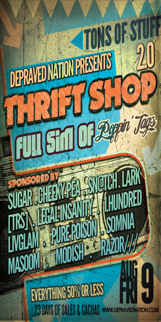 The Thrift Shop ~ Open Friday, August 9, 2013!