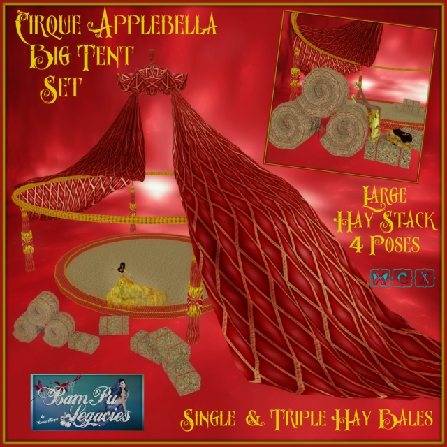 Cirque Applebella Big Tent Set ~ Plus Large Hay Stack with 4 Poses!