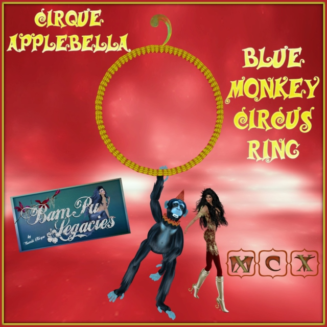 Cirque Applebella Blue Monkey Circus Ring