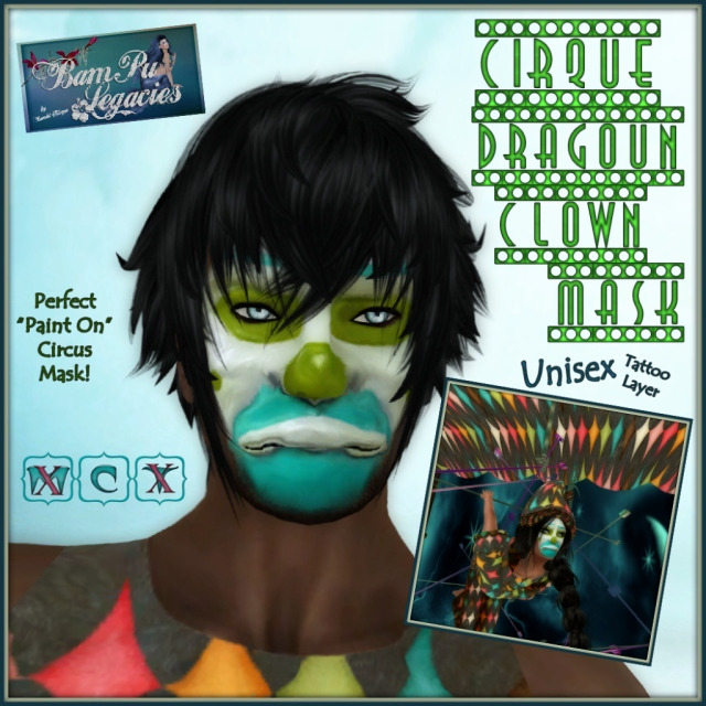 Cirque Dragoun Circus Clown Mask - Unisex!  How sad... lol