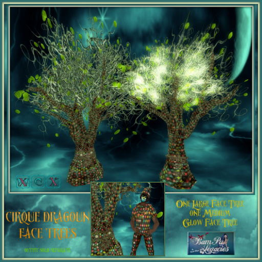 Cirque Dragoun ~ Face Trees Green Set