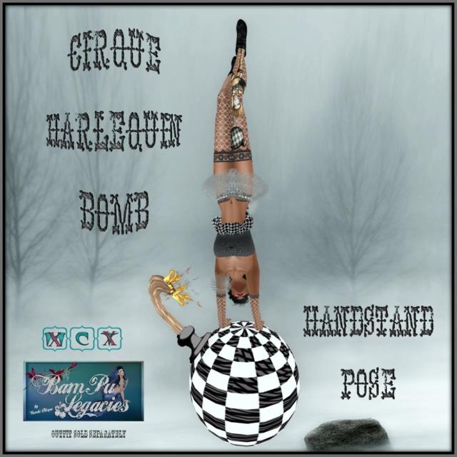 Cirque Harlequin Pose Bomb ~ Handstand Pose