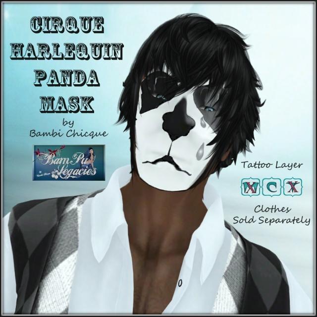 Cirque Harlequin Panda Mask