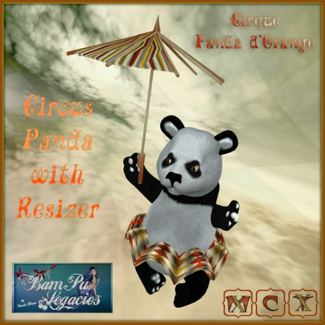 Cirque Panda d'Orange ~ Panda Holding Broken Umbrella with Resizer