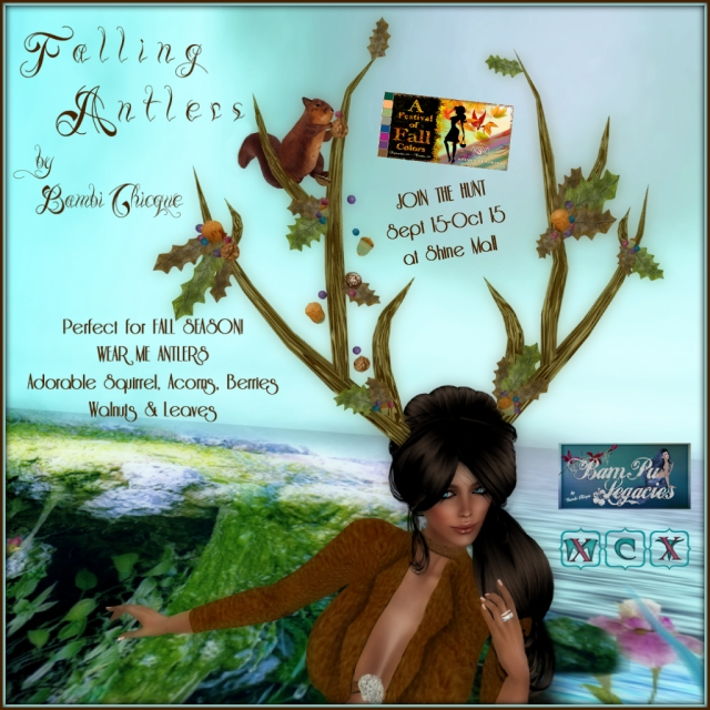 """Falling Antlers"" ~ with Resizer ~ Unisex!  ""A Festival Of Fall Colors HUNT"" at Shine Creations Mall"