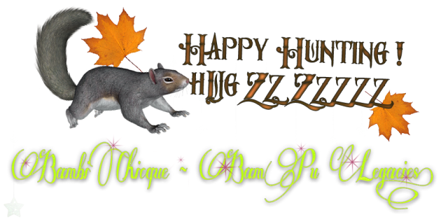 Happy Hunting Bambi Chicque LOGO wSquirrel