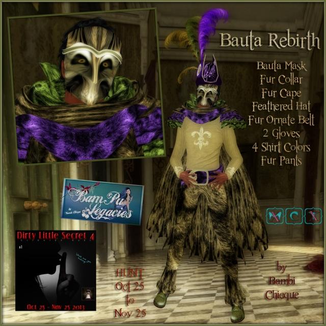 Bauta Rebirth by Bambi Chicque of BamPu Legacies