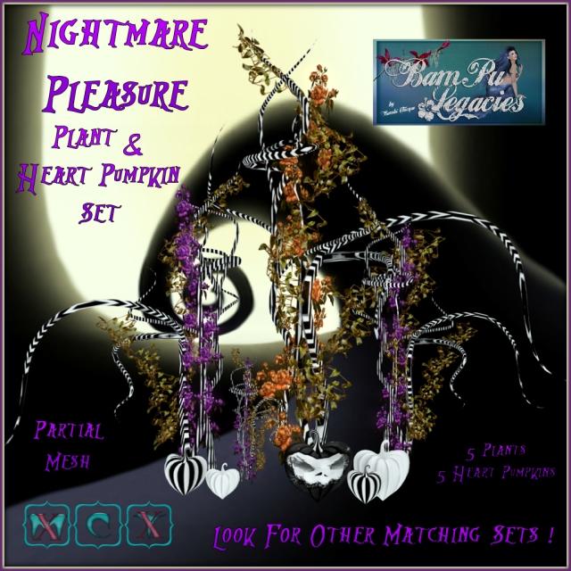Nightmare Pleasure Plants & Heart Pumpkins!