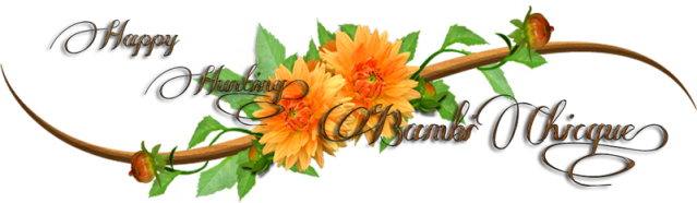 Happy Hunting Orange Flower logo 800x.