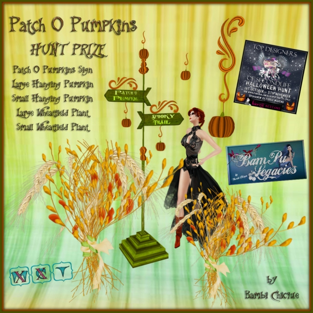Patch O Pumpkins ~ TOP DESIGNERS OF SECONDLIFE HUNT PRIZE #33