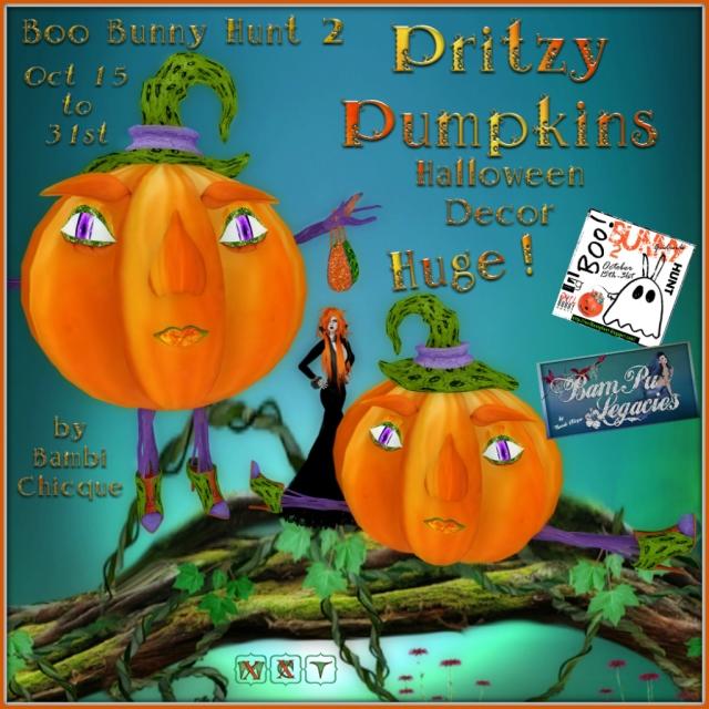 Pritzy Halloween Pumpkins ~ Oh My!