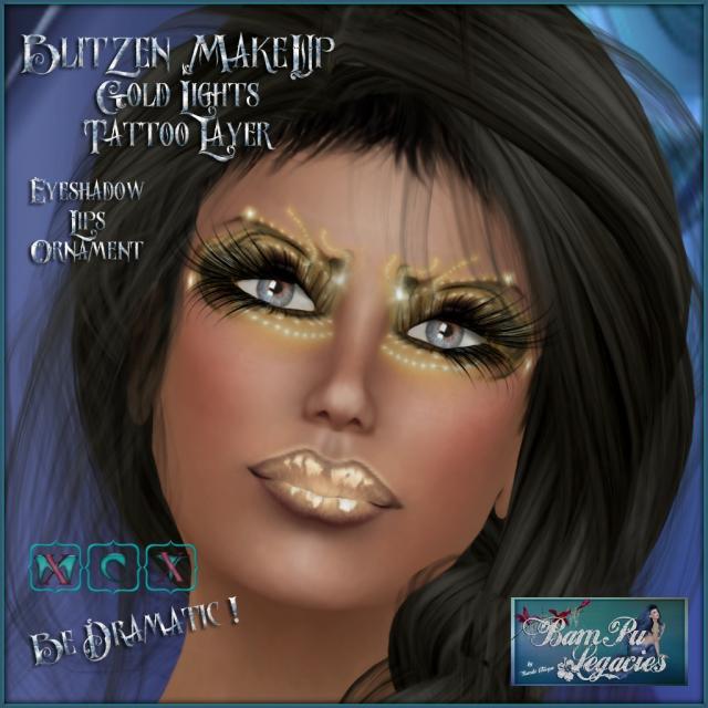 Blitzen MakeUp ~ Gold Lights