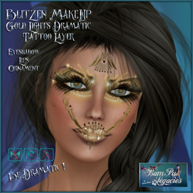 Blitzen MakeUp ~ Gold Lights Dramatic