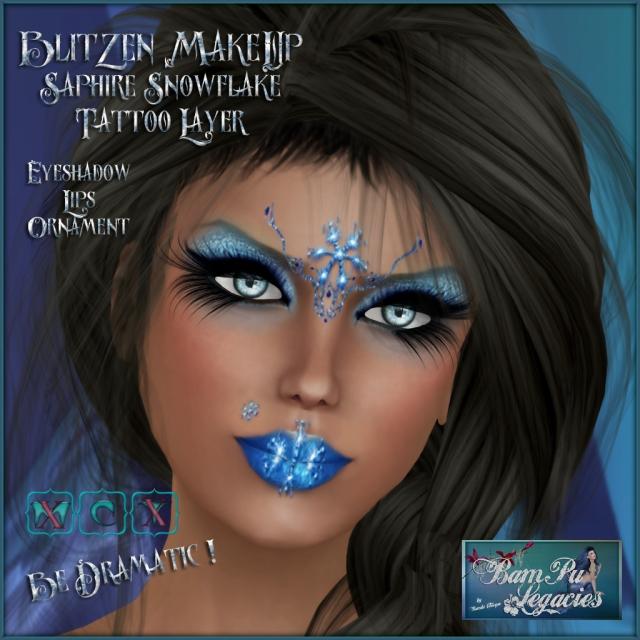 Blitzen MakeUp ~ Saphire Snowflake