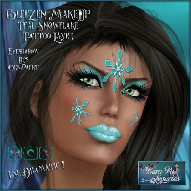Blitzen MakeUp Teal Snowflake