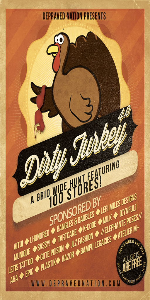 Depraved Nation Dirty Turkey Hunt 4.0 Flyer
