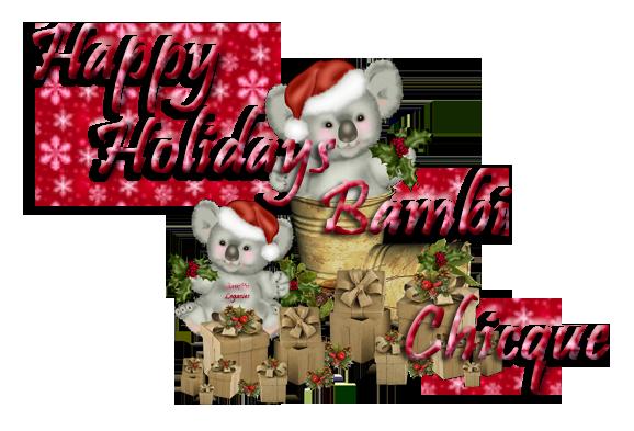 Happy Holidays Koala Bear. copy