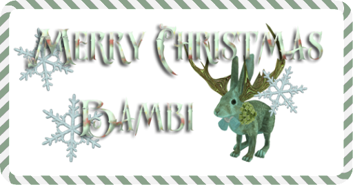 Logo Merry Christmas Bambi Jackalope PS