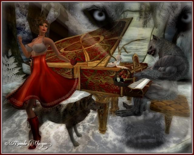 """Dark Wolf Inside"" by Bambi Chicque"