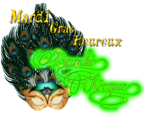 Happy Mardi Gras French LOGO