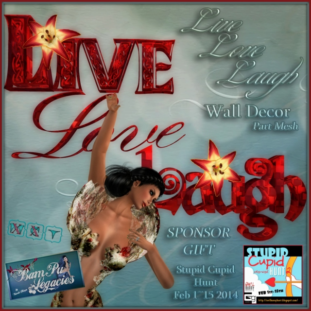 Live Love Laugh Wall Decor ~ SPONSOR GIFT ~ by Bambi Chicque