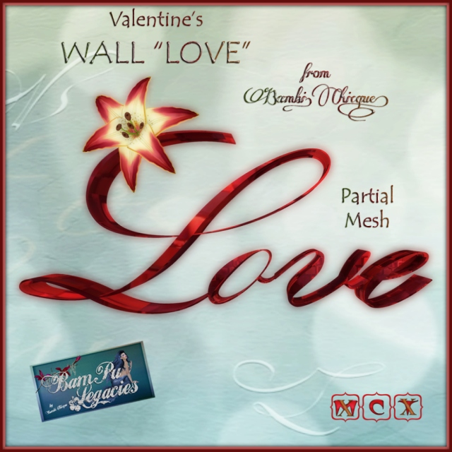 """Valentine's LOVE Wall Decor"" by Bambi Chicque"