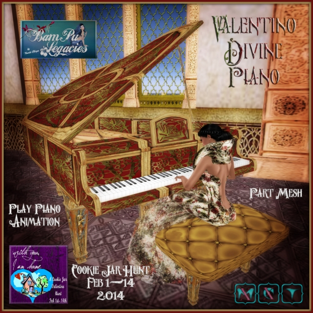 """Valentino Divine Grand Piano"" by Bambi Chicque"