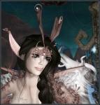 Banshee Spirit Fairy ~ Elvin Ears, Skin, Horned CrownHeaddress