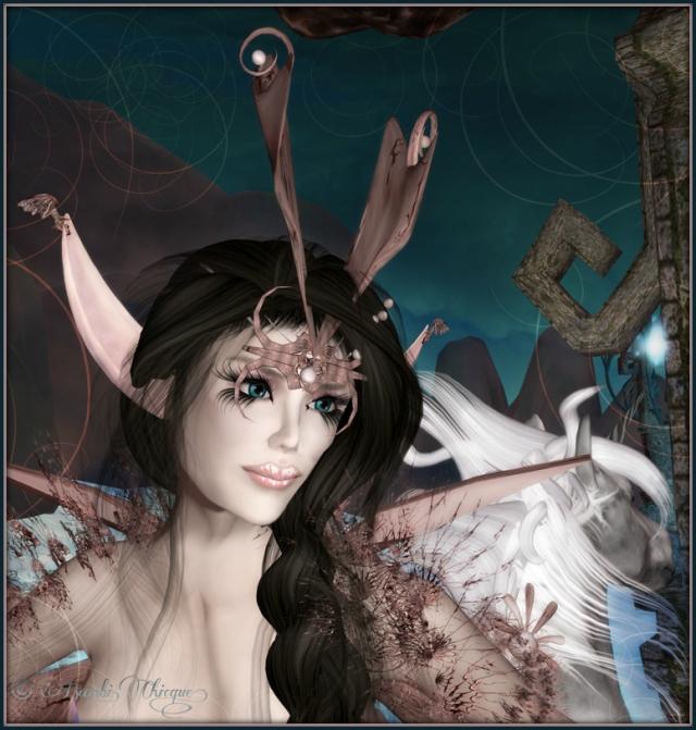 Banshee Spirit Fairy ~ Elvin Ears, Skin, Horned Crown Headdress