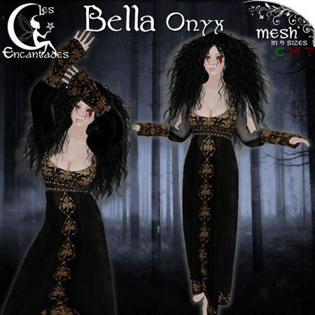 """Bella"" in Onyx by Les Encantades"