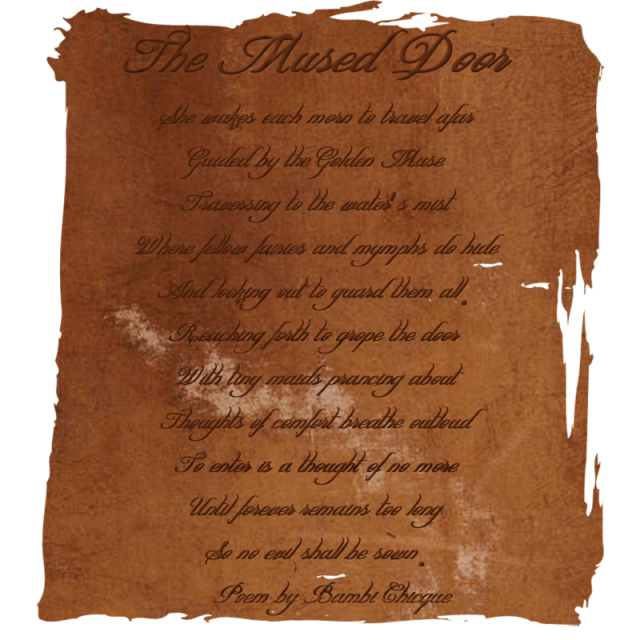 The Mused Door Poem by Bambi Chicque