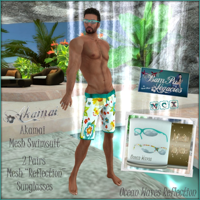 Akamai Male Swimsuit & Sunglass Set