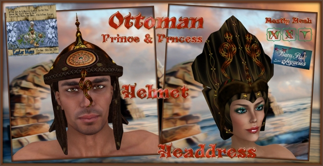 Ottoman Prince & Princess Helmet & Headdress