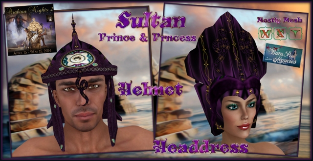 Sultan Prince & Princess Helmet & Headdress