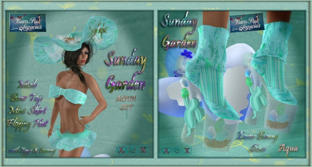 Sunday Garden Aqua 2 Sets