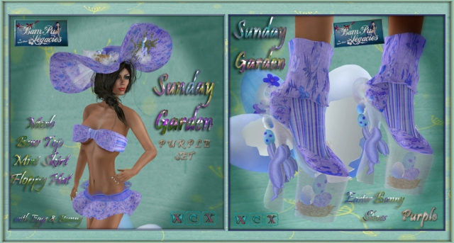 Sunday Garden Purple 2 Sets